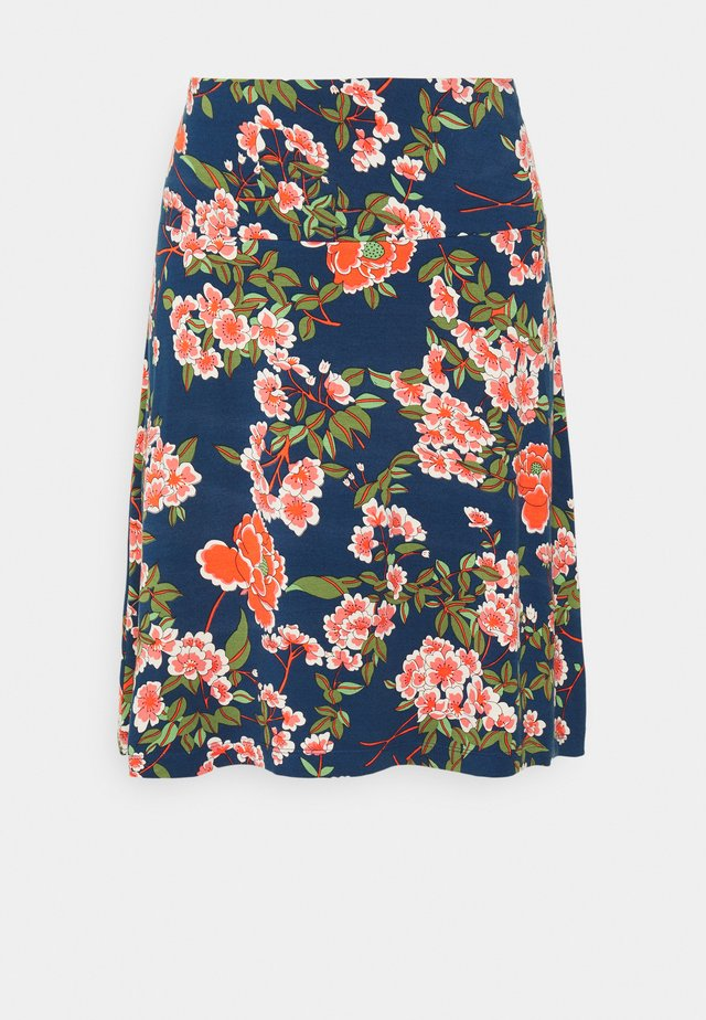 BORDER SKIRT - Jupe trapèze - blue