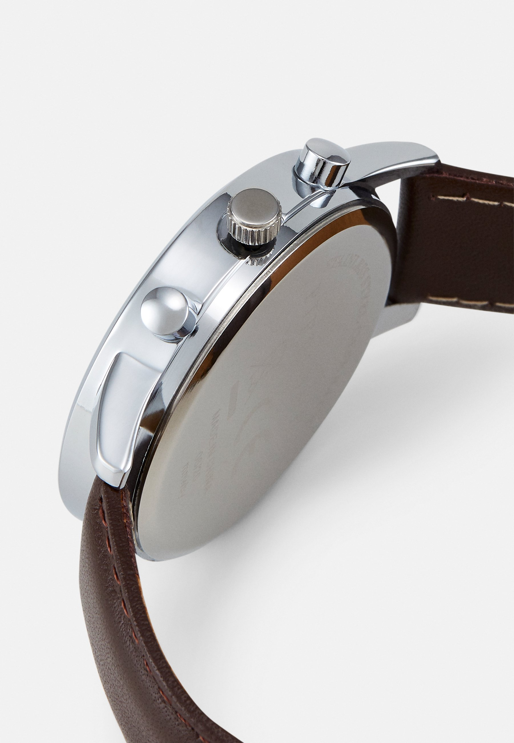 Pier One Klokke - brown/silver-coloured/brun BNSOoxTNObUB1Ci