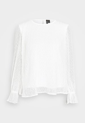 VMALBERTE PLEAT - Blusa - snow white