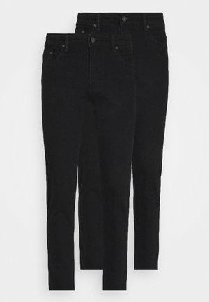 2 PACK - Jeans slim fit - black/black