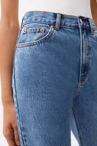 PULL&BEAR - MOM - Relaxed fit jeans - light blue - 3