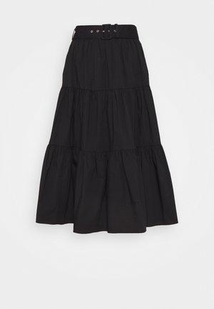 MIDI SKIRT - Maxi skirt - black