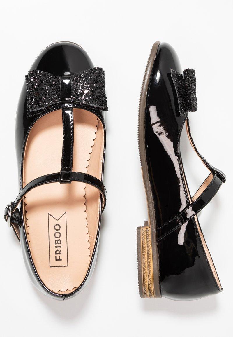 Friboo - Ballerinaskor med remmar - black
