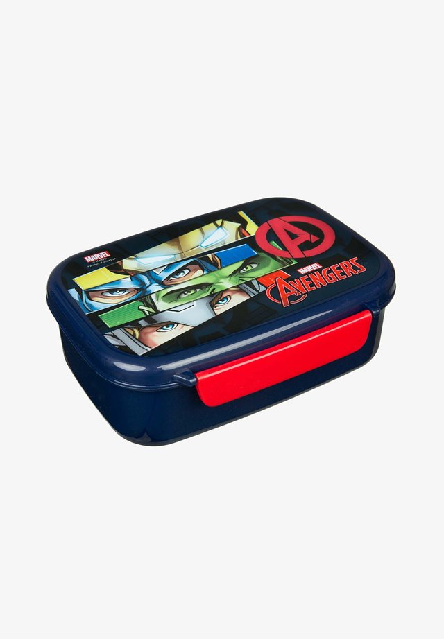 MIT HERAUSNEHMBAREM EINSATZ - IRONMAN HULK CAPTAIN AMER - Lunch box - dunkelblau