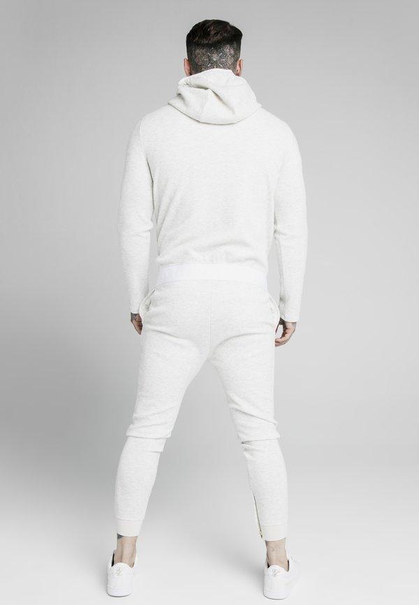 SIKSILK AGILITY TEXTURED ZIP THROUGH HOODIE - Kardigan - snow marl/biały Odzież Męska DOUT
