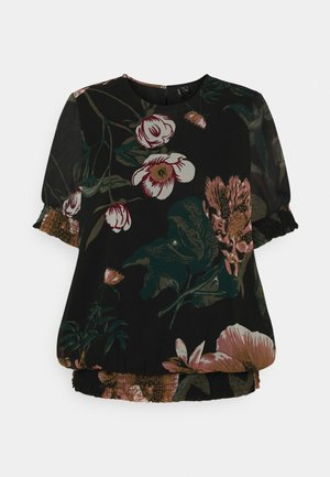 VMKATNISS SMOCK - Print T-shirt - black