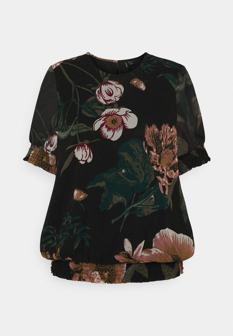 Vero Moda - VMKATNISS SMOCK - Print T-shirt - black