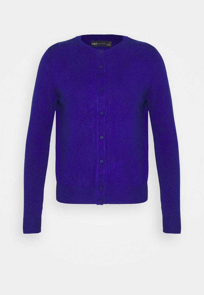 Marks & Spencer London - CREW CARDI PLAIN - Strikjakke /Cardigans - royal blue