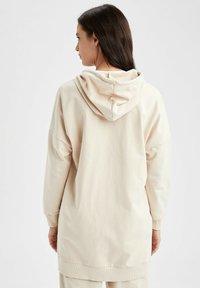 DeFacto - Zip-up sweatshirt - beige - 2