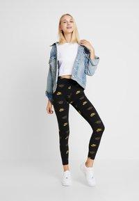 Nike Sportswear - SHINE - Leggings - black - 1