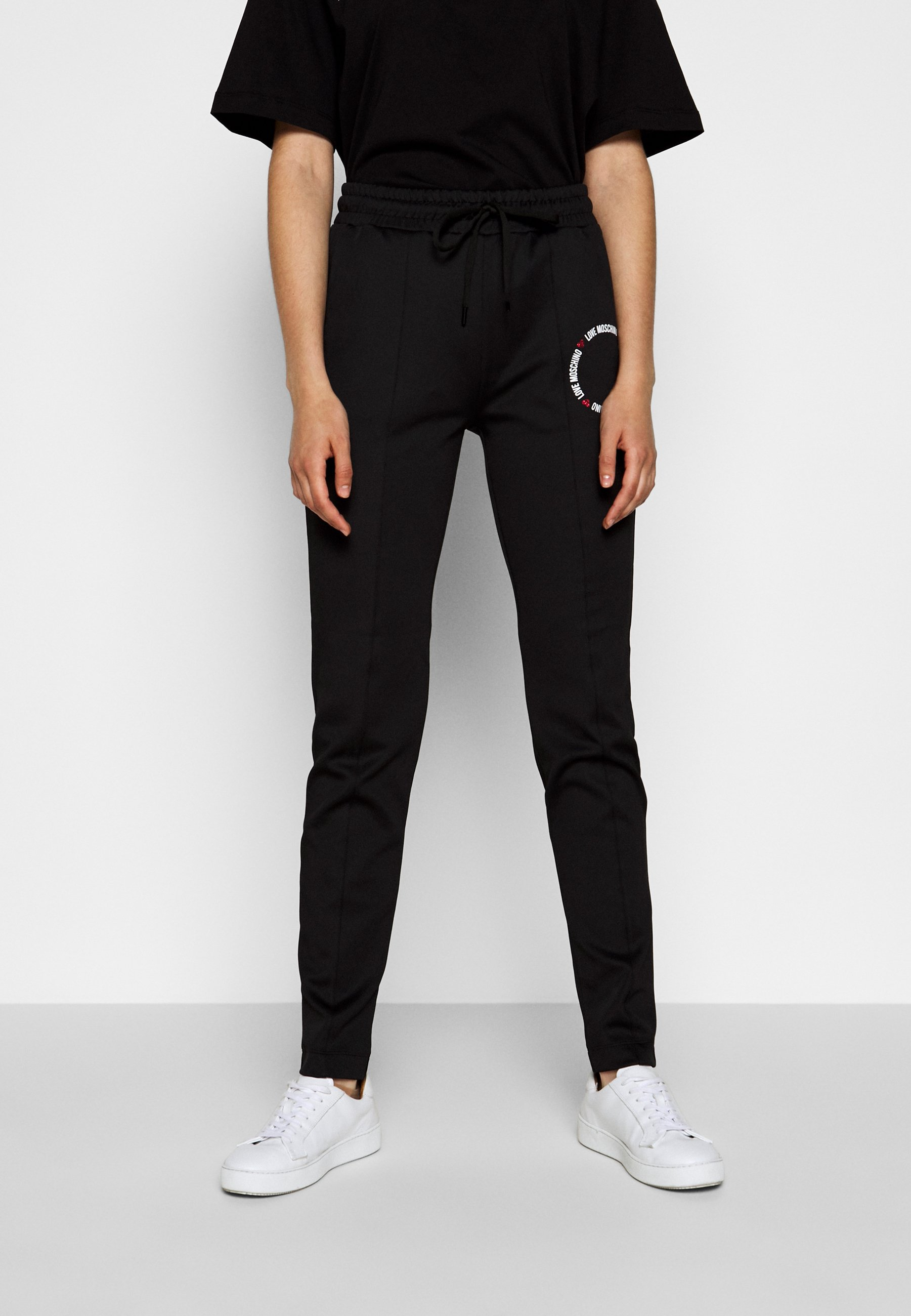 Clearance Women's Clothing Love Moschino Tracksuit bottoms black ThjT7ebD6