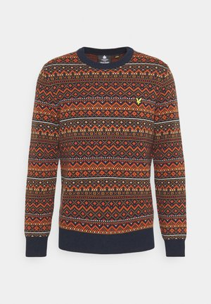 FAIR ISLE JUMPER - Jumper - dark navy