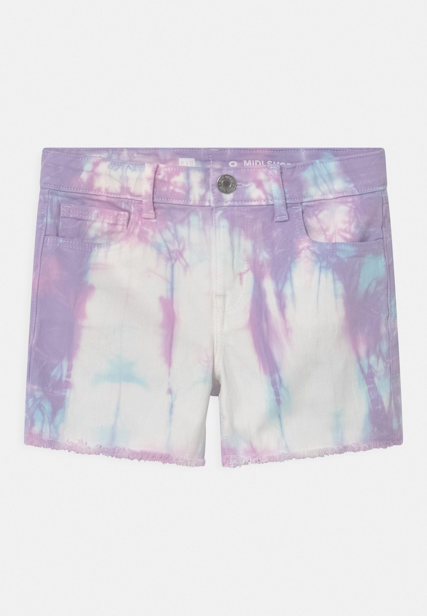 Kids GIRL AURORA TIE DYE - Denim shorts