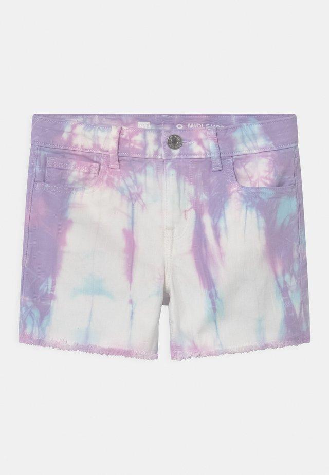 GIRL AURORA TIE DYE - Denim shorts - multi-coloured