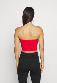Glamorous - BANDEAU CROP TUBE 2 PACK - Top - black/red - 2