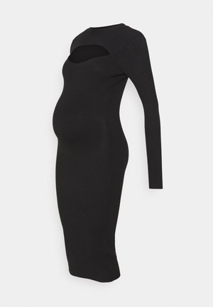 ROLL NECK CUT OUT DRESS MATERNITY  - Jumper dress - black