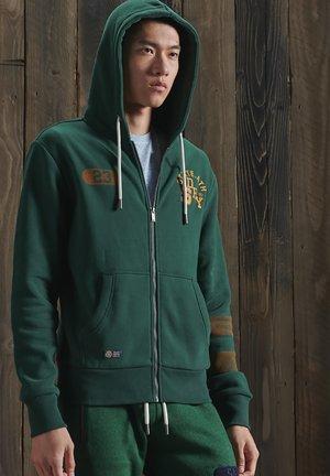 Zip-up hoodie - enamel green