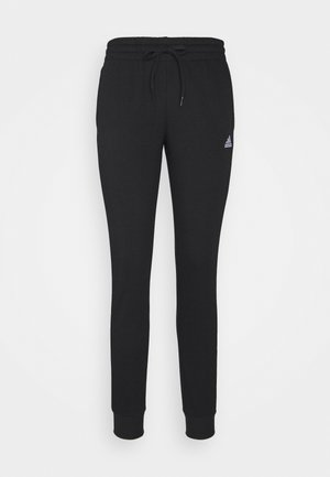 ESSENTIALS FRENCH TERRY 3-STRIPES PANTS - Tracksuit bottoms - black/white