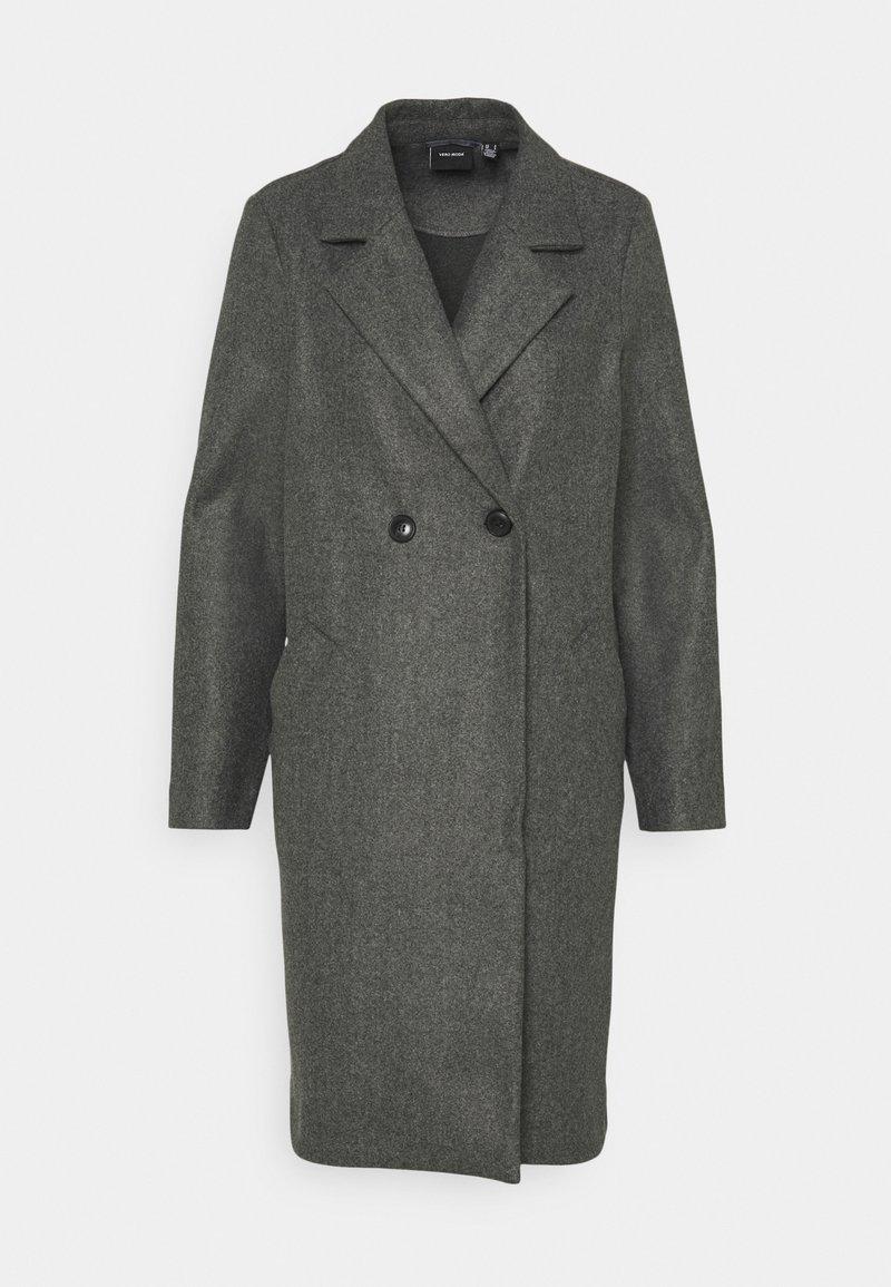 Vero Moda - VMFORTUNEADDIE JACKET - Classic coat - dark grey melange