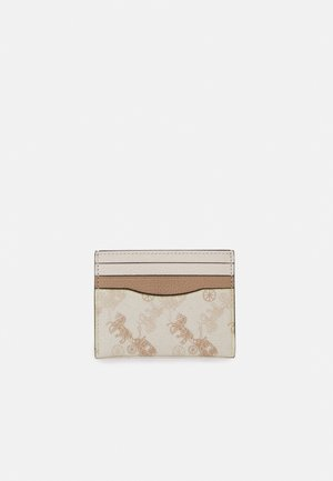 HORSE AND CARRIAGE FLAT CARD CASE - Punge - chalk/taupe