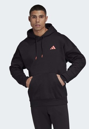 THE CLOUD 3-STRIPES GRAPHIC HOODIE - Hoodie - black
