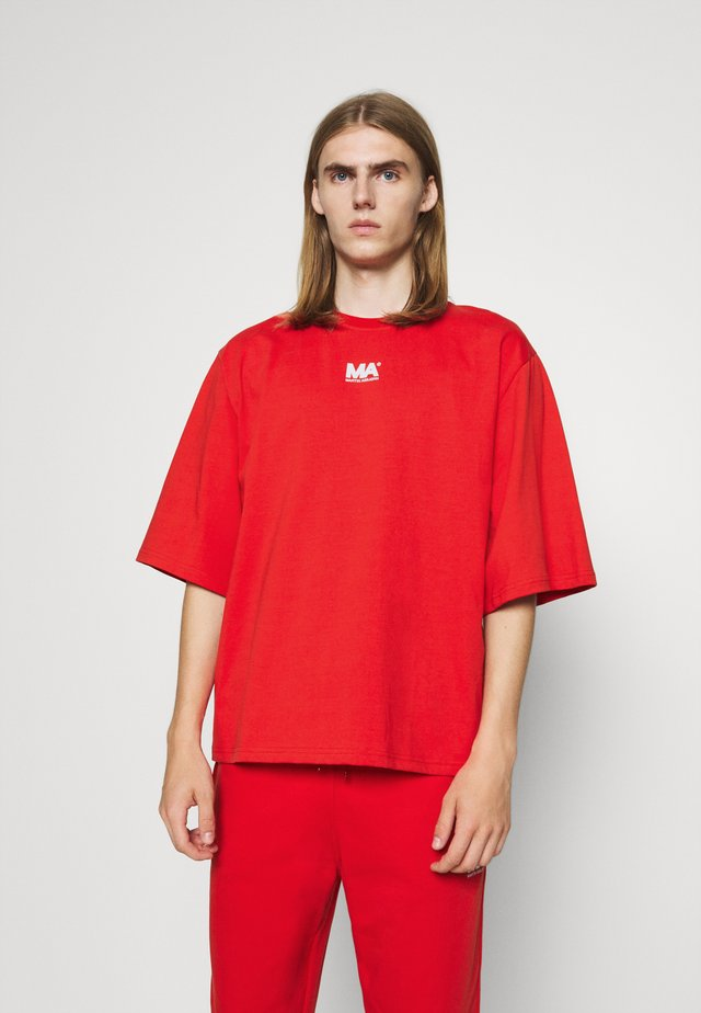 T-shirt con stampa - flame scarlet
