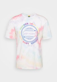 Jack & Jones - UNISEX JORSMILE TEE CREW NECK - Print T-shirt - cloud dancer - 3