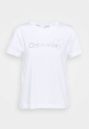 VALENTINES CREW NECK TEE - T-Shirt print - bright white