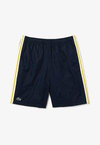 Lacoste Sport - TENNIS TOUR - Sports shorts - bleu marine jaune blanc - 0