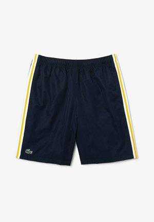 TENNIS TOUR - Sports shorts - bleu marine jaune blanc