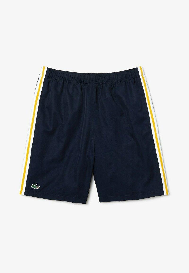 Lacoste Sport - TENNIS TOUR - Sports shorts - bleu marine jaune blanc