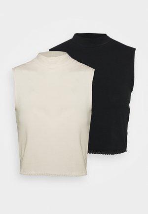 PCBIANCA CROP 2 PACK - Top - black/white