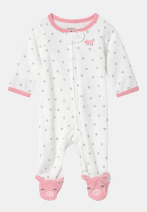 PIGGY  - Sleep suit - white/light pink