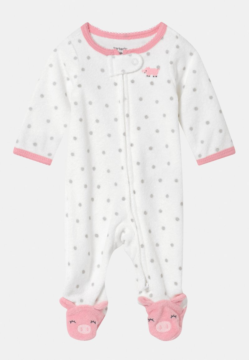 Carter's - PIGGY  - Kruippakje - white/light pink