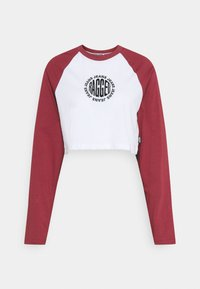 The Ragged Priest - LONG SLEEVE RAGLAN RINGER - Camiseta de manga larga - white/burgandy - 0