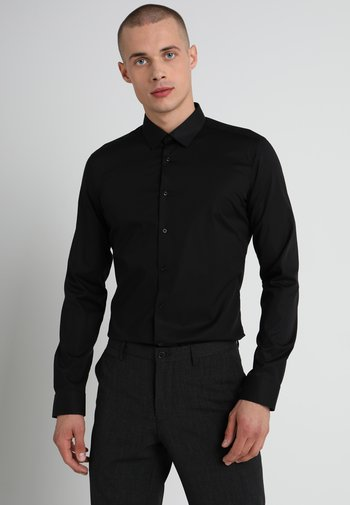SUPER SLIM KENT - Shirt - black