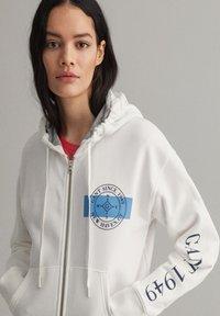 GANT - Zip-up hoodie - eggshell - 3