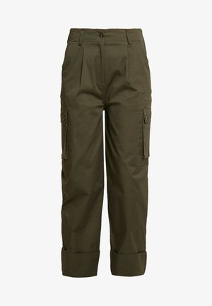 CARA - Spodnie materiałowe - hunter green