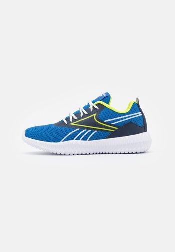 FLEXAGON ENERGY KIDS UNISEX - Sports shoes - vector blue/vector navy/acid yellow