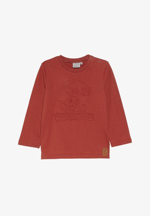 MICKEY EMBOSSED BABY - Top sdlouhým rukávem - red
