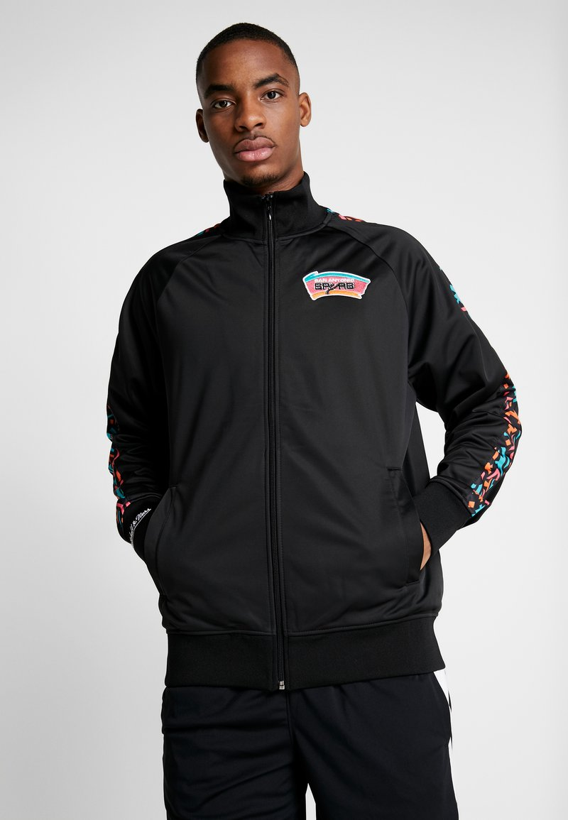 Mitchell & Ness - NBA SAN ANTONIO SPURS TRACK JACKET - Træningsjakker - black