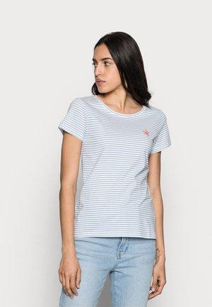 Print T-shirt - offwhite/blue