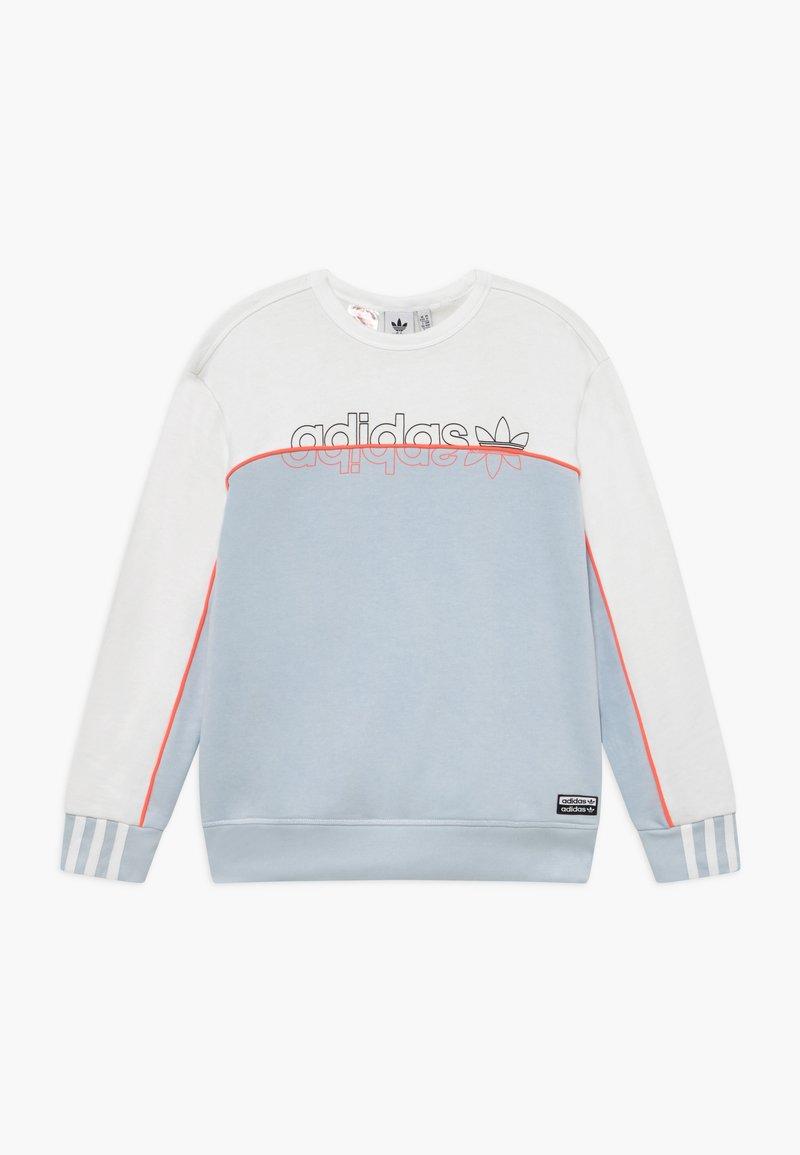 adidas Originals - CREW - Sweatshirt - skytin/white