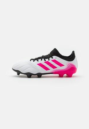 COPA SENSE.3 FG - Moulded stud football boots - footwear white/shock pink/core black