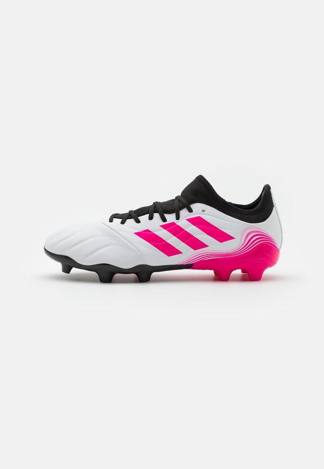 COPA SENSE.3 FG - Fodboldstøvler m/ faste knobber - footwear white/shock pink/core black