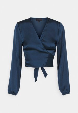 TIE FRONT - Long sleeved top - pageant blue