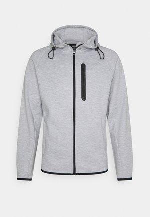 JJESPORT ZIP HOOD - Zip-up hoodie - light grey melange