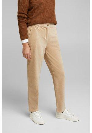 Trousers - cream beige