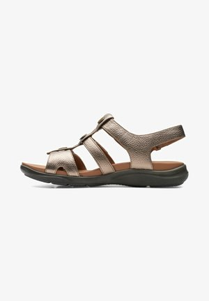 KYLYN STEP - Sandalias de senderismo - gold metallic
