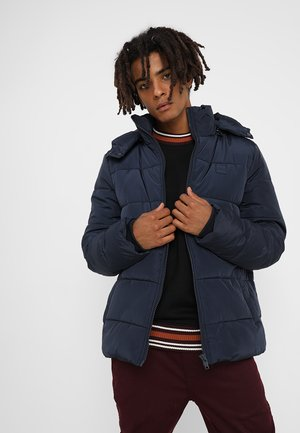 HOODED PUFFER JACKET - Vinterjakke - navy